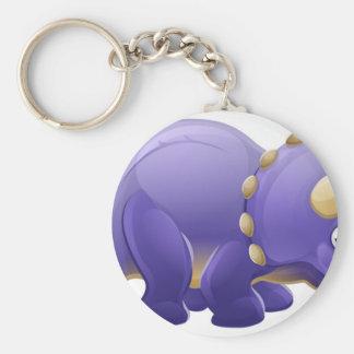 Cute Triceratops Cartoon Dinosaur Keychain
