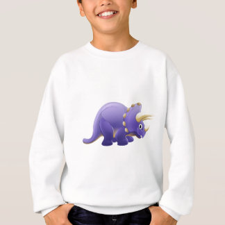 Cute Triceratops Cartoon Dinosaur Sweatshirt