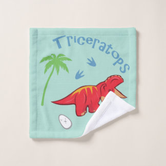 Cute Triceratops Wash Cloth
