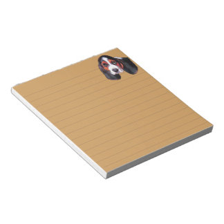 Cute Tricolor Basset Hound Puppy Notepad