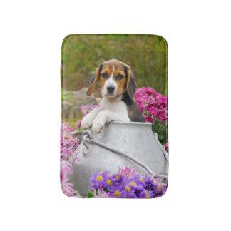 Cute Tricolor Beagle Dog Puppy Milk Churn soft Rug