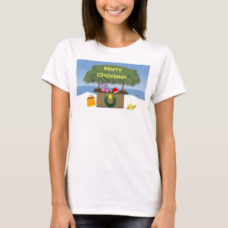 Cute Tropical Beach Tiki Hut Bar Christmas T-Shirt
