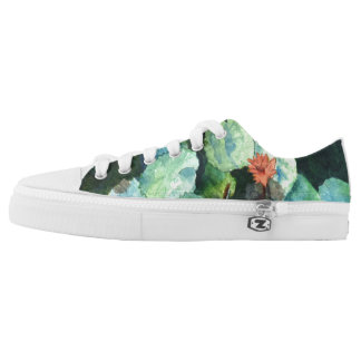Cute Tropical Colorful Fun Lilies Low Top Shoes