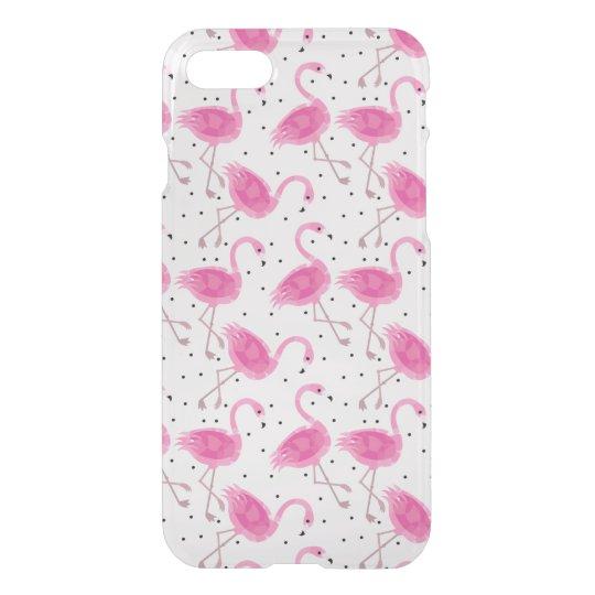 Cute Tropical Flamingo Polka Dot Pattern iPhone 8/7 Case