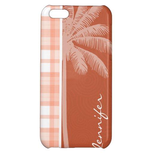 Cute Tropical Orange Plaid iPhone 5C Case