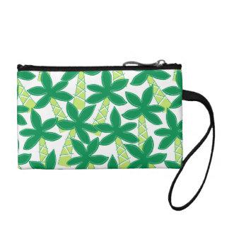 Cute tropical palm trees coin purse