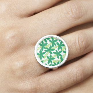 Cute tropical palm trees photo ring