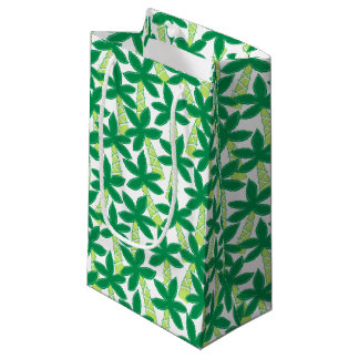 Cute tropical palm trees small gift bag