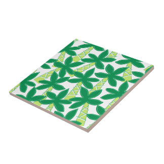 Cute tropical palm trees tile