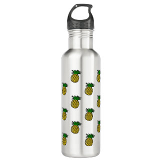 Cute Tropical Summer Fruits Pineapples Pattern 710 Ml Water Bottle