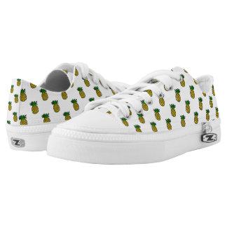 Cute Tropical Summer Fruits Pineapples Pattern Low-Top Sneakers