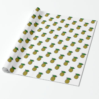 Cute Tropical Summer Fruits Pineapples Pattern Wrapping Paper