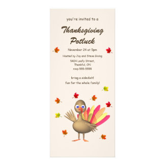 Cute Turkey Thanksgiving Potluck Announcement