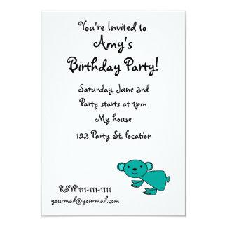 """Cute turquoise koala 3.5"""" x 5"""" invitation card"""