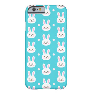 Cute turquoise white easter bunnies simple pattern barely there iPhone 6 case