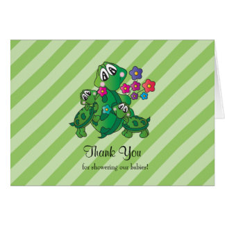 Cute Turtle Baby Shower Theme Card