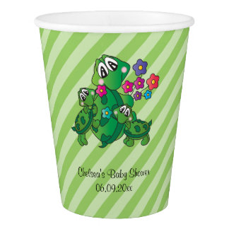 Cute Turtle Baby Shower Theme Paper Cup