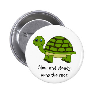 Cute Turtle Cartoon 2 Inch Round Button