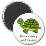 Cute Turtle Cartoon 2 Inch Round Magnet