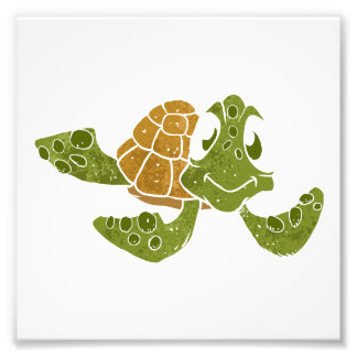 Cute turtle cartoon. art photo