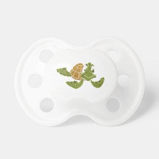 Cute turtle cartoon. baby pacifiers