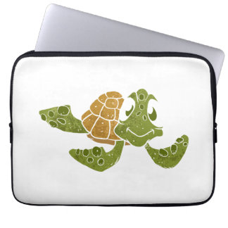 Cute turtle cartoon. computer sleeve