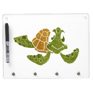 Cute turtle cartoon. dry erase white board
