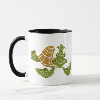 Cute turtle cartoon. mug