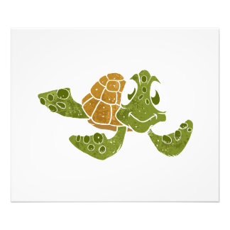 Cute turtle cartoon. photo