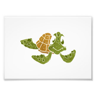 Cute turtle cartoon. photo print
