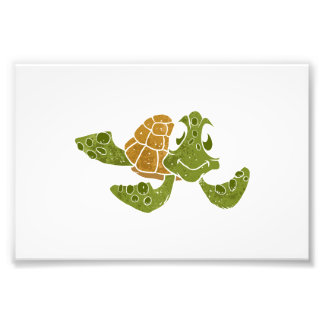 Cute turtle cartoon. photographic print