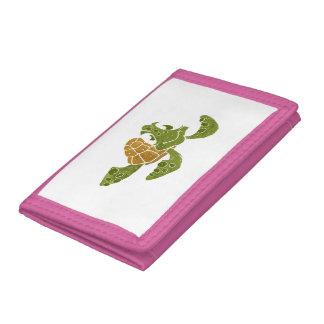 Cute turtle cartoon. tri-fold wallets