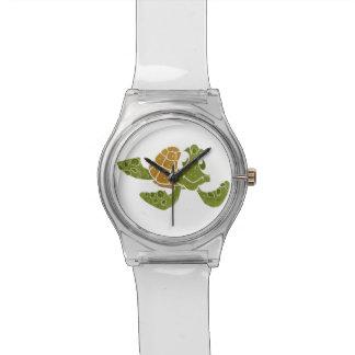 Cute turtle cartoon. wrist watch