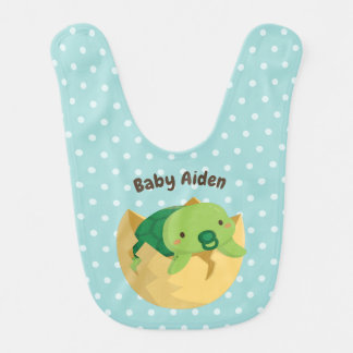 Cute Turtle Hatching Egg Personalized Baby Bib