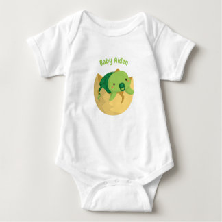 Cute Turtle Hatching Egg Personalized Baby Tee