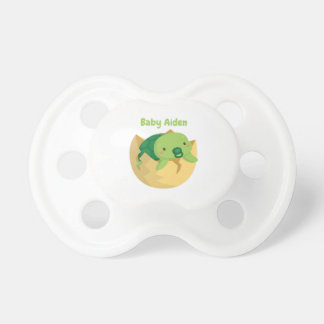 Cute Turtle in Egg Personalized Baby Pacifier