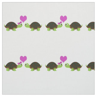 Cute Turtle Love Fabric