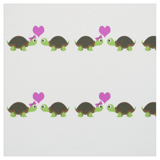 Cute Turtle Love Fabric