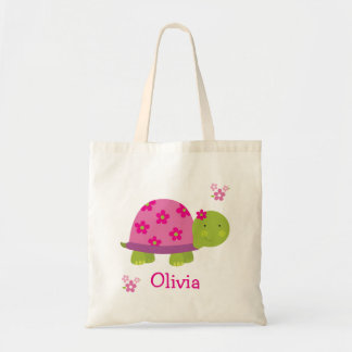 Cute Turtle Personalized Bag Tote for Girl