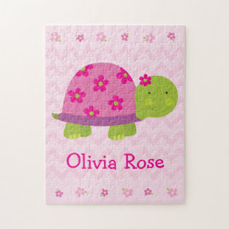 Cute Turtle Personalized Puzzle for Girls