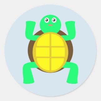 Cute Turtle Round Sticker