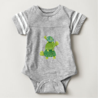 Cute Turtle Stack Family Baby Bodysuit