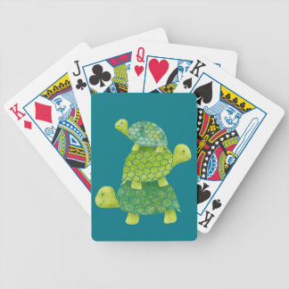 Cute Turtle Stack Family Bicycle Playing Cards