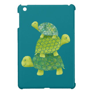 Cute Turtle Stack Family iPad Mini Cover