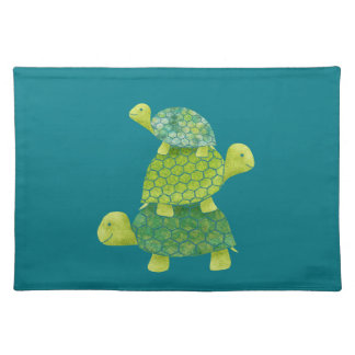 Cute Turtle Stack Family Placemat