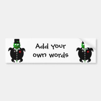 Cute turtle wearing a tuxedo! bumper sticker