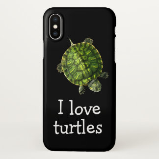 Cute Turtles Theme iPhone X Case