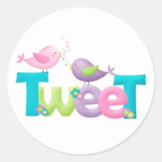 Cute Tweet Birds Classic Round Sticker