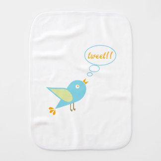 Cute tweet burp cloths