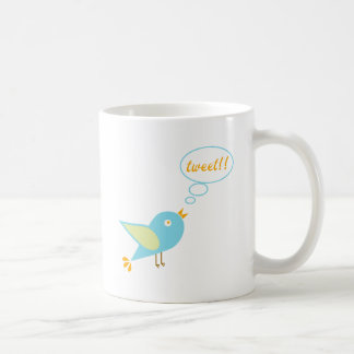 Cute tweet coffee mug